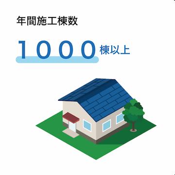 年間施工棟数1000棟以上